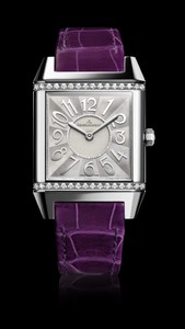 Jaeger LeCoultre Reverso Squadra Lady (SS-Diamonds / MOP / Leather Strap) Q7038493