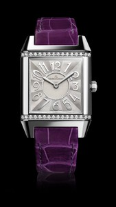Jaeger LeCoultre Reverso Squadra Lady  (SS / Diamonds / Purple)