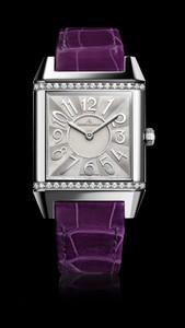 Jaeger LeCoultre Reverso Squadra Lady  (SS / Diamonds / Purple)