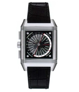 Jaeger LeCoultre Reverso Squadra World Chronograph (Ti / Black / Leather) Q702T470