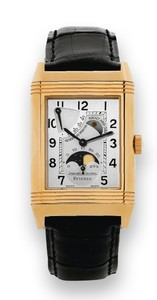 Jaeger LeCoultre Reverso Sun Moon (PG / Silver / Leather) 270.2.63