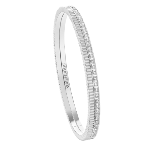 Boucheron Quatre Radiant Edition white bangle bracelet