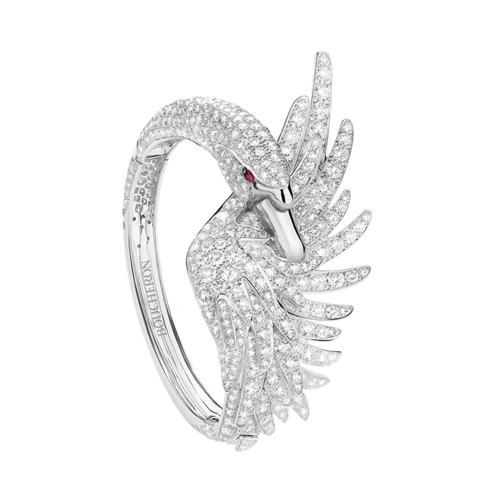 Boucheron Cypris, the swan Bracelet Diamonds