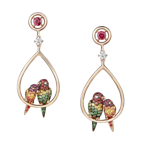 Boucheron Nuri, the cockatoo pendant Earrings