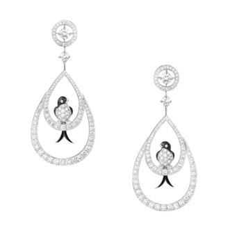 Boucheron Hirunda, the swallows pendant Earrings