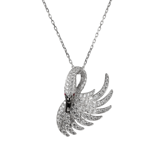 Boucheron Cypris, the swan pendant