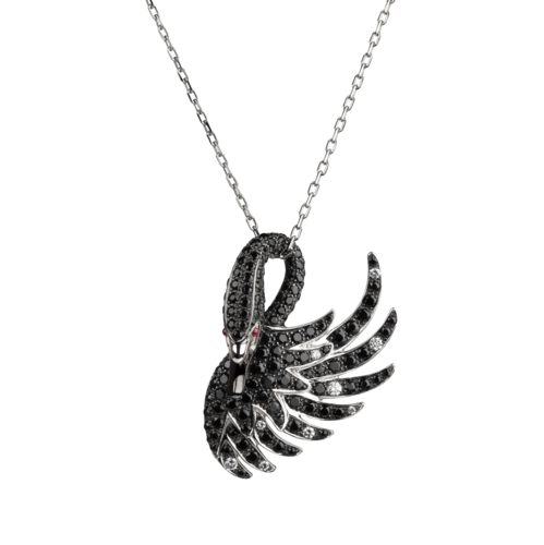 Boucheron Cypris, the black swan pendant