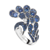 Boucheron Héra, the peacock ring Sapphires
