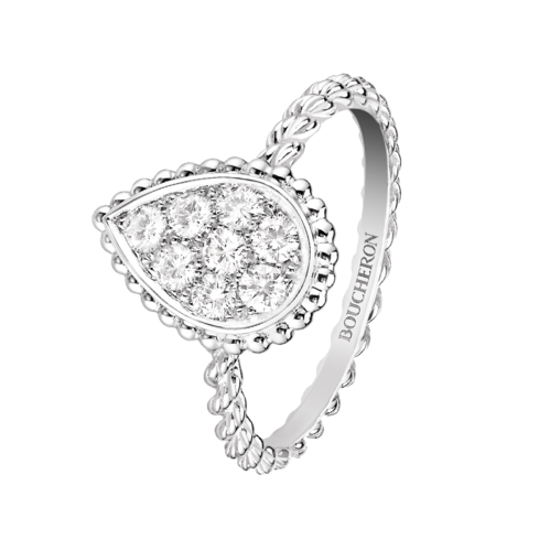 Boucheron Serpent Boheme White Ring Medium Motif