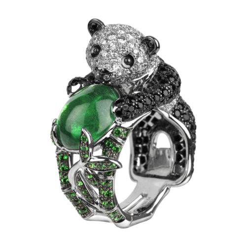 Boucheron Biladom, the Panda Ring Emerald