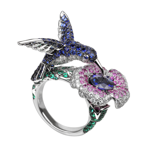 Boucheron Hopi, the Hummingbird Ring Blue Sapphire
