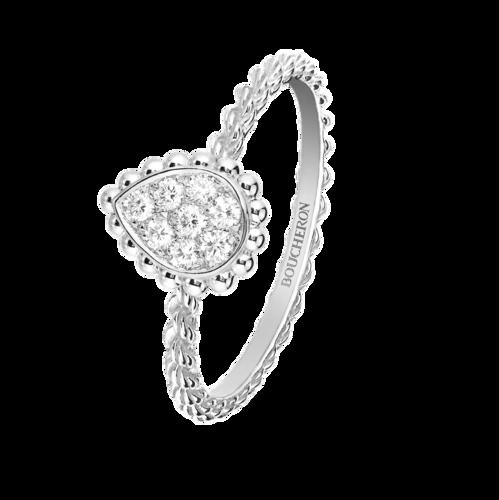 Boucheron Serpent Boheme White Ring Small Motif