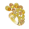 Boucheron Héra, the yellow peacock ring