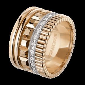 Boucheron Quatre Radiant Edition pink large ring