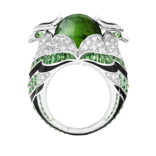 Boucheron Chinha, the Eagl green ring