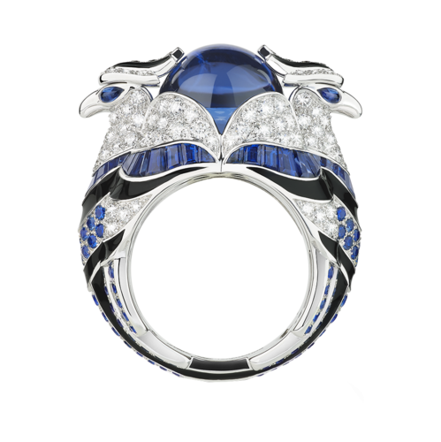 Boucheron Chinha, the Eagl blue ring