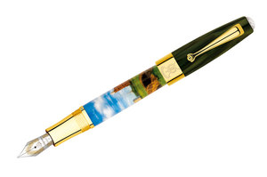 Montegrappa St Andrews Links Fountain Pen, Hand-Painted, Solid 18K Gold