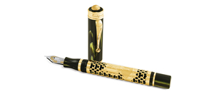 Montegrappa St Andrews Links Fountain Pen, F, Bamboo Black