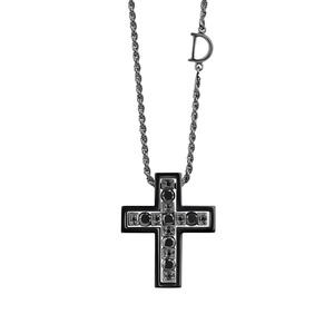 Крест Damiani BELLE EPOQUE Black Gold 20074271
