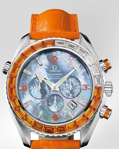 Omega Seamaster Specialities Jewellery Chronograph (SS / Black-Mother-of-Pearl / Strap) 222.28.46.50.57.001