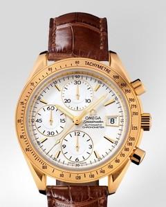 Omega Speedmaster Date ( YG / Silver / Croc Leather) 323.53.40.40.02.001