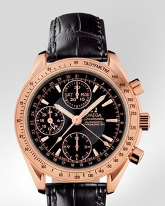 Omega Speedmaster Day Date ( RG / Black / Croc Leather) 323.53.40.44.01.001
