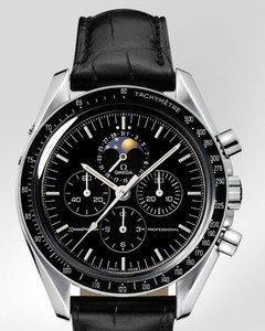 Omega Speedmaster Moon Phase (SS / Black / Leather) 3876.50.31