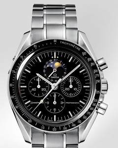 Omega Speedmaster Moon Phase (SS / Black / SS) 3576.5