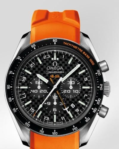 Omega Speedmaster Specialities HB-SIA Co-Axial GMT Chronograph (Titanium / Black Carbon Fibre / Strap) 321.92.44.52.01.003