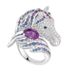 Boucheron Pégase, the horse ring Amethyst