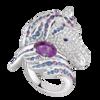Boucheron Pégase, the horse ring Amethyst
