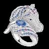 Boucheron Pégase, the horse ring Blue sapphire