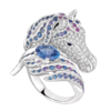 Boucheron Pégase, the horse ring Blue sapphire