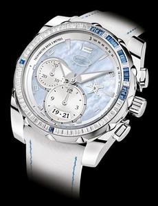 Parmigiani Fleurier Parmigiani Pershing 002 Chronograph Asteria (WG-Baguette Diamonds / Blue MOP / Leather) PF602475-01