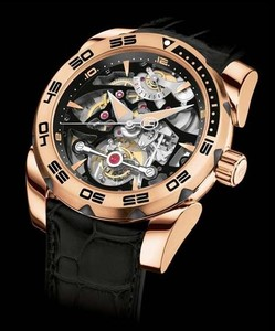 Parmigiani Fleurier Pershing Tourbillon Skeleton (RG / Granite-Skeleton / Strap) PF602626-01