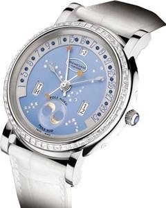 Parmigiani Fleurier Toric Retrograde Perpetual Calendar (WG-Baguettes / Luna Blu / Leather) PF011586-01