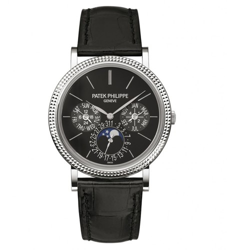 Patek Philippe Ultra Thin Perpetual Calendar WG / Black / Leather Strap 5139G