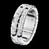 Boucheron Pointe de Diamant Platinum Wedding Band Large