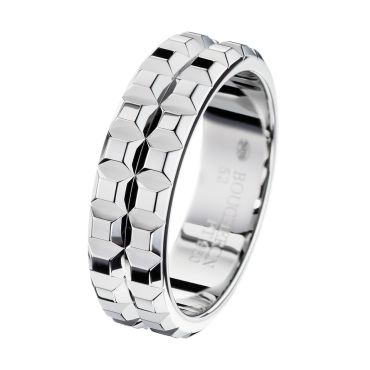 Boucheron Pointe de Diamant Platinum Wedding Band Large