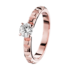 Boucheron Pointe de Diamant Pink Gold Solitaire