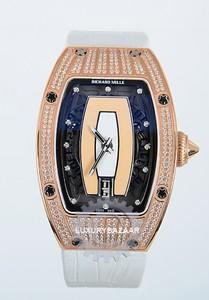 Richard Mille RM 007-1 (WG-Diamonds / Salmon / Leather)