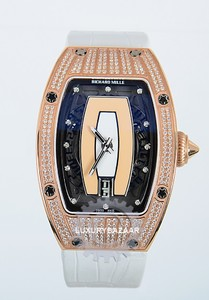 Richard Mille RM 007-1 (WG-Diamonds / Salmon / Leather)