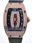 Richard Mille RM 007 Rose Gold Full Pave Case (Diamonds / Burgundy-Diamond / Leather)