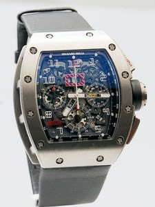 Richard Mille RM 011 Felipe Massa (Titalyt) (Titanium / Skeleton / Leather Strap)