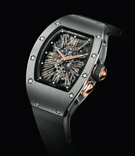 Richard Mille RM 037 Automatic (Titanium-RG / Skeleton / Rubber Strap)