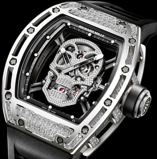 Richard Mille Watches RM 052 Skull Diamonds