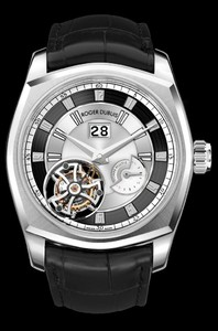 Roger Dubuis La Monegasque Flying Tourbillon (Platinum / Silver / Leather Strap) RDDBMG0002