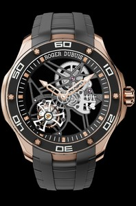 Roger Dubuis Pulsion Skeleton Flying Tourbillon Pink Gold RDDBPU0001