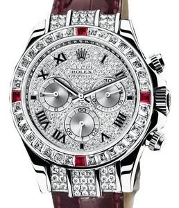 Rolex Cosmograph Daytona (WG-Baguettes-Rubies / Diamonds / Leather) 116599 4RU
