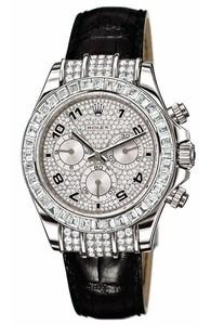 Rolex Cosmograph Daytona (WG-Baguettes / Diamonds / Leather) 116599 TBR